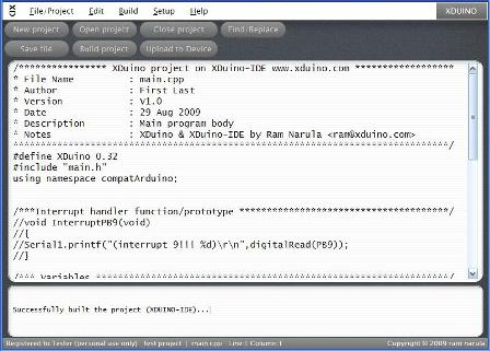 XDUINO IDE v0.91 screen shot